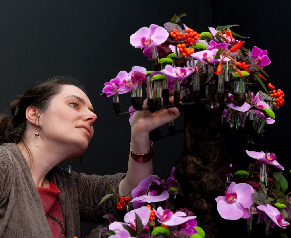 Tracey Griffin with a award winning floral design